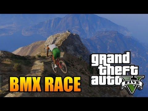 GTA V – Ultimate BMX Bike Race Down a Mountain