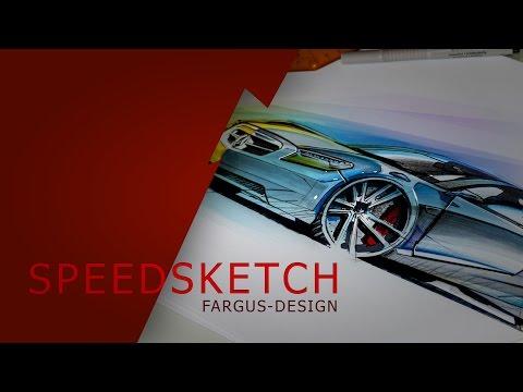 Wie zeichnet man ein Auto? Speedsketch. Zeichnen lernen leicht gemacht