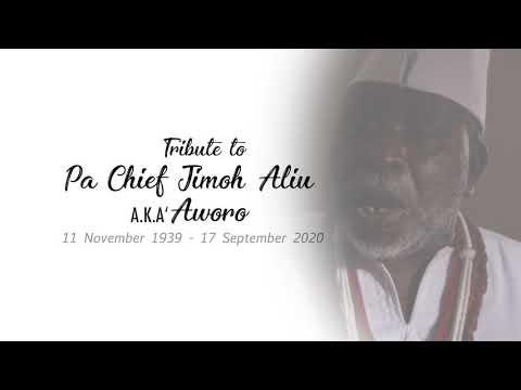 TRIBUTE TO CHIEF JIMOH ALIU AKA AWORO