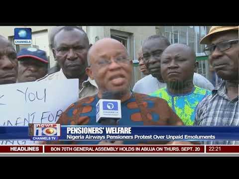Nigerian Airways Pensioners Protest Over Unpaid Emoluments
