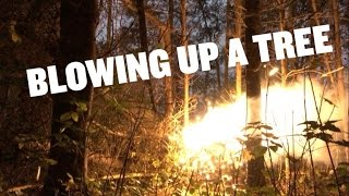 in this video we show how we make our flashpowder and try to split a dead tree with it.this is for demonstrational purposes only.we do not encourage you to try this yourself as this is quite dangerousthanks for watching