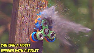 Can You Spin a Fidget Spinner with a Bullet? Video