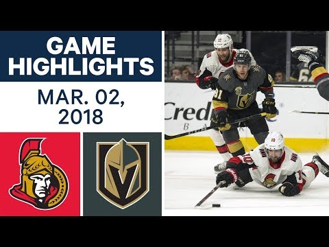 Video: NHL Game Highlights | Senators vs. Golden Knights - Mar. 02, 2018