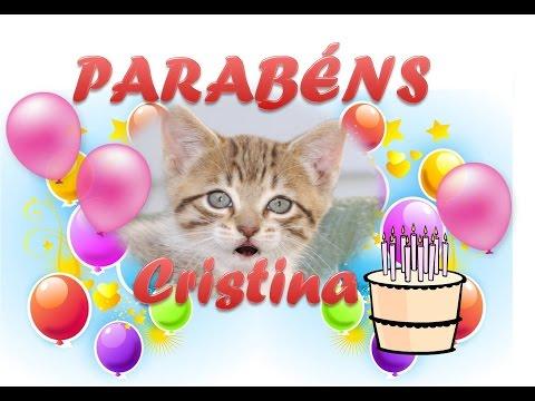 Msg de aniversário - PARABENS CRISTINA!!