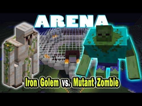 Minecraft Arena Battle Iron Golem vs. Mutant Zombie