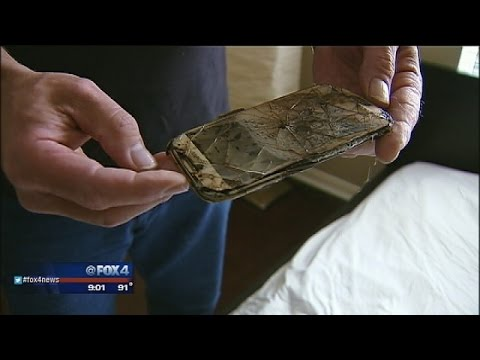 samsung - A 13-year-old North Texas girl was awoken in the night by a smoldering cell phone on the other side of her pillow, but the cell phone manufacturer says she did something they warn users about....