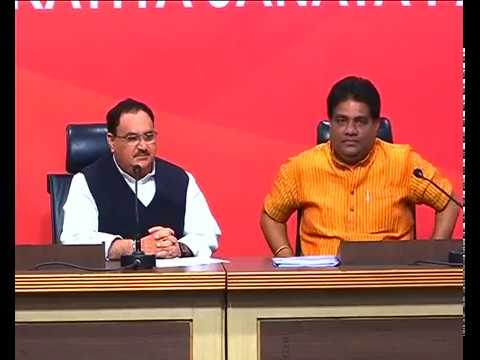 Press Conference by Shri J.P Nadda at BJP HQ - 12.03.2017