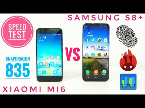 Xiaomi MI6 VS Samsung Galaxy S8 SPEED TEST - Snapdragon 835