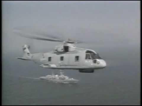 The UK Royal Navy Merlin medium...