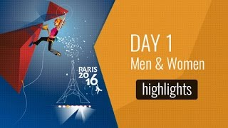 IFSC Climbing and Paraclimbing World Championships 2016 Paris - Day One Highlights by International Federation of Sport Climbing
