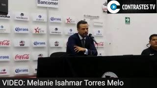 Rafa Puente Jr. director técnico de Lobos habla del empate en el partido de presentación.