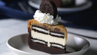 5-Layer Brownie Cookie Cheesecake by Tasty