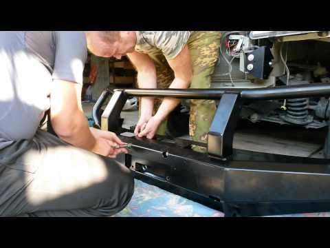 Силовой бампер на шевроле нива фотка