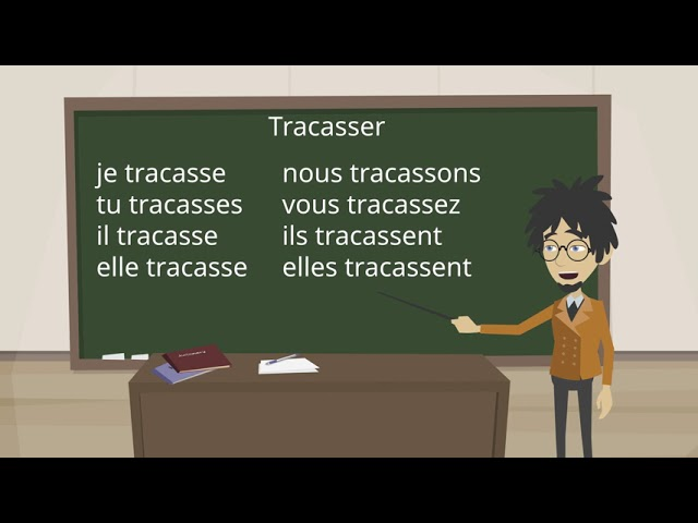Урок французского языка: глагол Tracasser