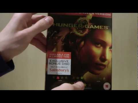 The Hunger Games (Sainsbury's 3 Disc Exclusive) Blu-ray Unboxing