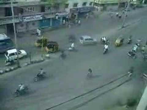 Cómo conducen en la India