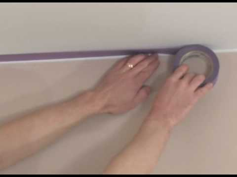 masking tape - Description of Painters Tape, and a method to use for masking trim and ceilings before painting walls. This method can eliminate the common problems that usu...