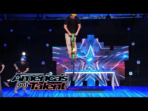 steps - Pogo crew stunt team adds a new fire element to their act that doesn't go as planned. Did they still impress the judges enough to get through to Radio City Music Hall? » Subscribe: http://full.sc/...