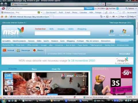 comment modifier internet explorer