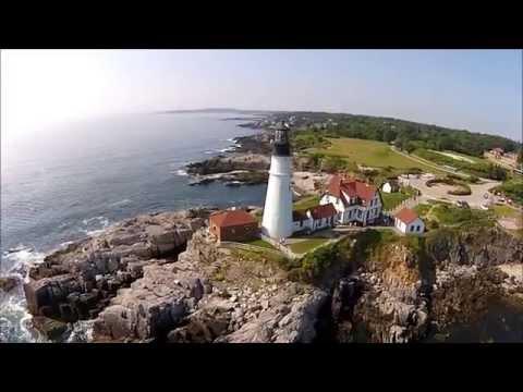 Cape Elizabeth Drone Video