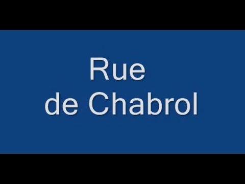 Rue de Chabrol Paris Arrondissement 10e