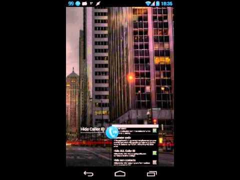 Video of Hide Caller ID