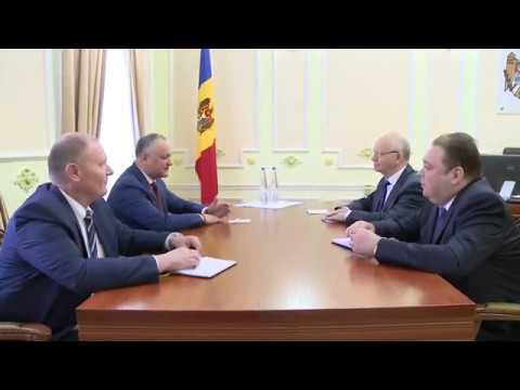 Igor Dodon a avut o întrevedere cu Ambasadorul Extraordinar şi Plenipotenţiar al Federaţiei Ruse în Republica Moldova, Farit Muhametșin.
