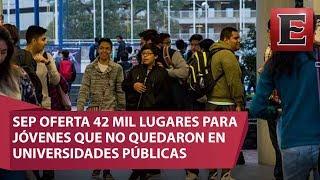 La Secretaría de Educación Pública (SEP) señaló que se cuenta con un total de 41 mil 412 espacios en instituciones de educación superior de mayor saturación en la Zona Metropolitana del Valle de México.16 de julio 2017COMENTA ESTE VIDEO Y COMPARTELO CON TUS AMIGOSPara más información entra: http://www.youtube.com/excelsiortvNo olvides dejarnos tus comentarios y visitarnos enFacebook: https://www.facebook.com/ExcelsiorMexTwitter: https://twitter.com/Excelsior_MexSitio: http://www.excelsior.com.mx/tvSuscríbete a nuestro canal: https://www.youtube.com/channel/UClqo4ZAAZ01HQdCTlovCgkA