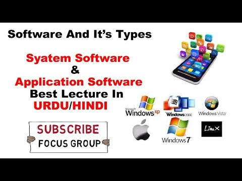 what Is Software and It's Types.  System Software & Application Software lecture In Urdu/Hindi