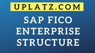Enterprise Structure | SAP FICO | SAP Finance and Controlling Certification Training Course Tutorial