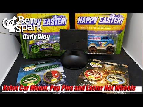 Xshot Car Mount, Pop Pins and Easter Hot Wheels (видео)