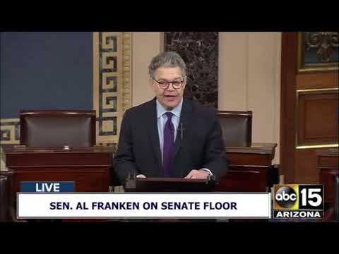LIVE: Senator Al Franken announces his resignation from the Senator floor
