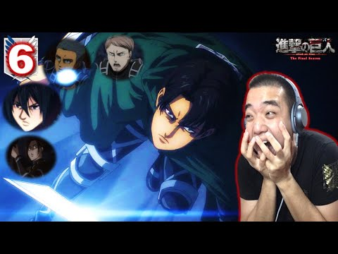 進撃の巨人 4期 6話    Attack on Titan Season 4 (Final Season) Episode 6 REACTION - LEVI & SQUAD IS BACK🔥!!