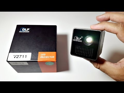 Awesome Ultra Mini DLP Projector - 1080p HD Movies - 1000mAh Battery
