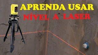 Vídeo aula como usar o nível a laser na sua construção. Facebook: https://www.facebook.com/josias.rodrigues.3 Blog:...