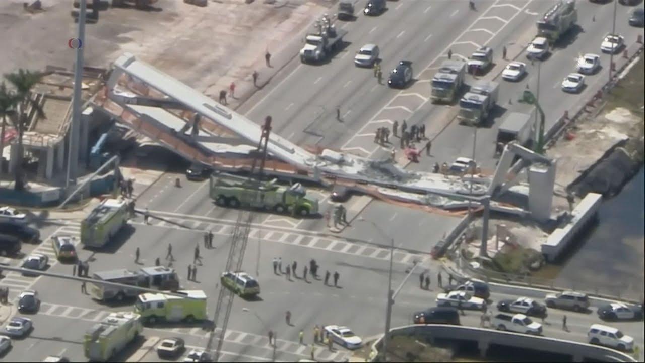 Τουλάχιστον 4 νεκροί από την κατάρρευση πεζογέφυρας στο Μαϊάμι