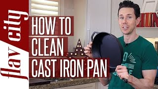 Many of you guys asked how I clean my cast iron pans to make them look so good, so I had to show you my favorite way to clean a cast iron pan. Hot water, a little soap, and 20 minutes is all you need to make you r cast iron skillet look new and to season a cast iron skillet. I clean my cast iron pan after every use and season my cast iron skillet also. SUBSCRIBE: http://goo.gl/pWpsoqGET THE CAST IRON PANS I USE:Lodge cast iron pan: http://amzn.to/2h3bQu7Staub cast iron pan: http://amzn.to/2qcKIcqNew Videos Every Friday!Follow Me On Social Media:Facebook: https://www.facebook.com/flavcityInstagram: https://www.instagram.com/flavcitySnapchat: flavcityTwitter: https://www.twitter.com/flavcityI'm out to prove that home cooks can be rock stars in the kitchen. I look forward to sharing my recipes & cooking style with you on my channel!Music from Audio Network