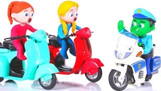 BABY POLICE STOPS THE GIRLS ❤ PLAY DOH CARTOONS FOR KIDS