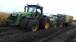 Video John Deere 8530 Working Hard in The Mud During Maize / Corn Chopping   JD 8370R   Häckseln 2017 MP3, 3GP, MP4, WEBM, AVI, FLV November 2017