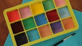 Robert's Homemade Watercolor Paints - YouTube