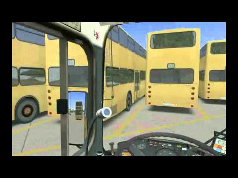 OMSI Gameplay - Maneuvering and parking at depot - HD