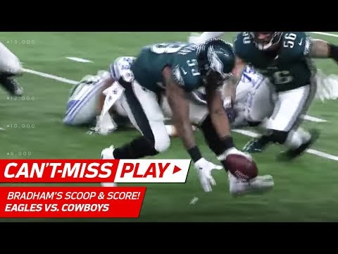Video: Barnett Strip Sacks Prescott & Bradham Gets the Huge TD Return! | Can't-Miss Play | NFL Wk 11