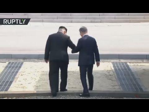 Moon Jae-in & Kim Jong Un arrive at border village for historic summit