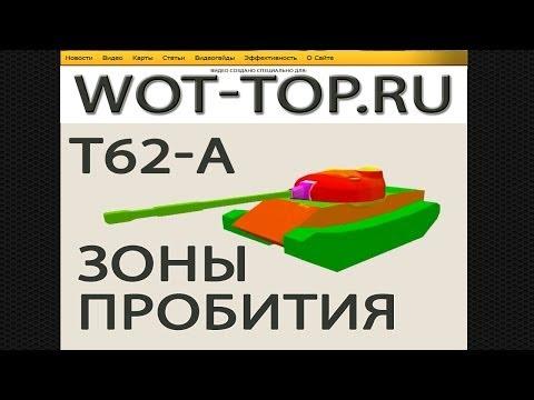 T-62A Зоны пробития - Обзор видео гайд модель и схема бронирования Т 62а
