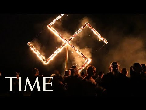 Neo-Nazis Burned A Swastika After Their Rally In Georgia | TIME