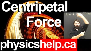 Physics Lesson:  Centripetal Force Part 1 Acceleration Dynamics For High School