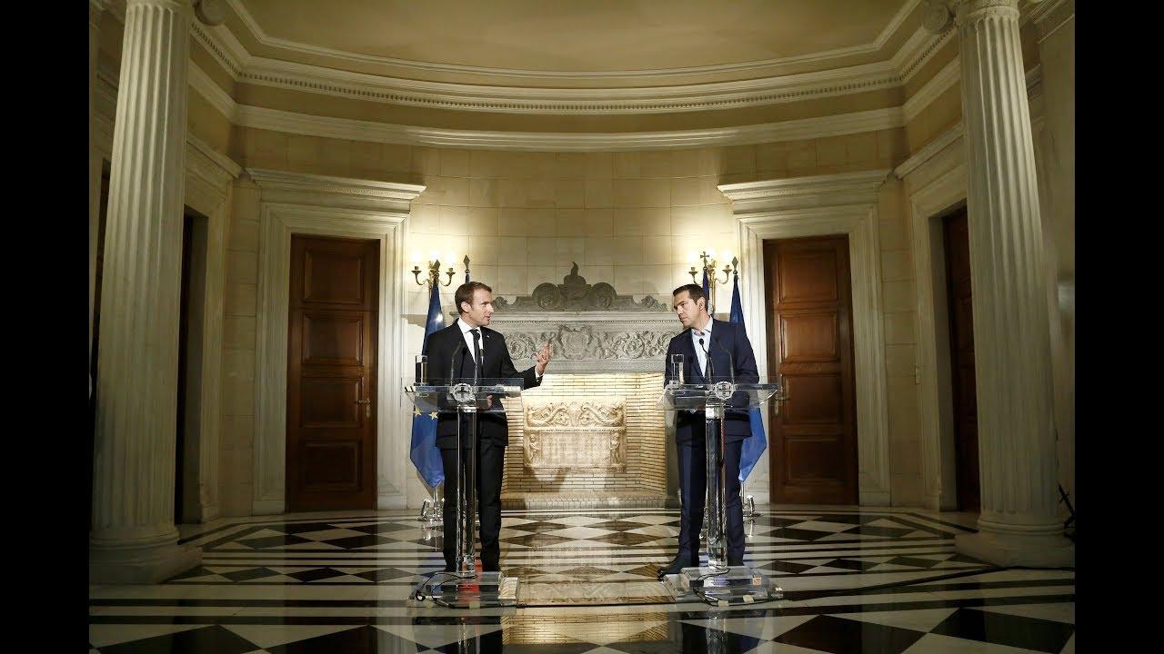 Κοινές δηλώσεις με τον Πρόεδρο της Γαλλικής Δημοκρατίας κ. Εμανουέλ Μακρόν