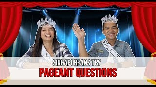 Video Singaporeans Try: Answering Pageant Questions (MISS UNIVERSE SPECIAL) MP3, 3GP, MP4, WEBM, AVI, FLV Oktober 2018