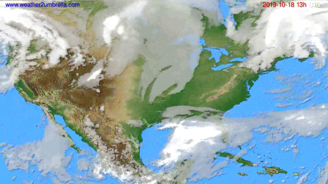 Cloud forecast USA & Canada // modelrun: 00h UTC 2019-10-17