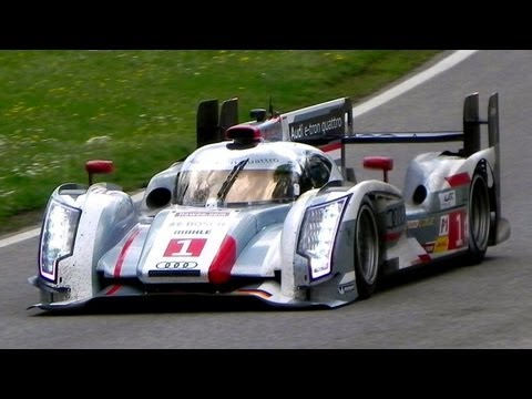 E. - Here you are just a short video about the 2013 Audi R18 E-Tron Quattro, fitted with the bodywork they'll use for the next 24 hours of Le Mans (